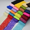 9.5Yards Beautiful Lace Stretch Floral Lingerie Headband Elastic DIY lace wide:8cm 26colors