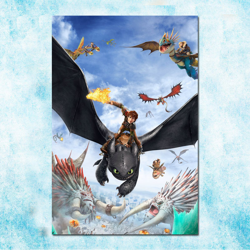 How To Train Your Dragon 3 Movie  Art Canvas Poster Print 12x18 32x48 inch