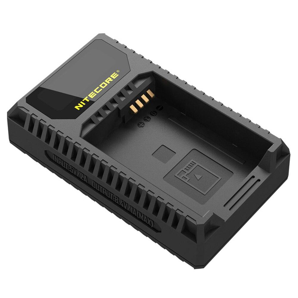 100% Original Nitecore ULQ Digital USB Travel Charger For Leica BP-DC12 Batteries Q (Typ 116) V-Lux (Type 114) V-Lux 4