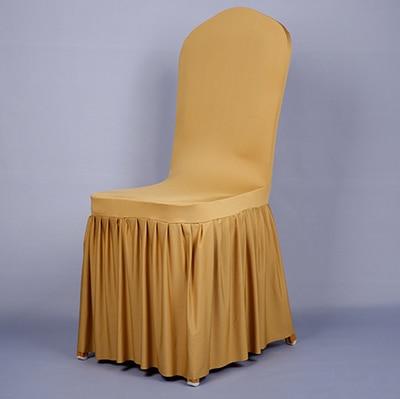 Pločaste suknje od elastične presvlake za stolice navlake za banket - Tekstil za kućanstvo - Foto 4