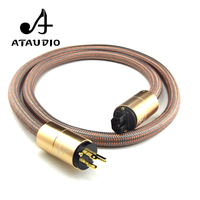 ATAUDIO Hifi OFC Power Cable With Gold Plated US Plug AC Power Cord for DVD Amplifier CD