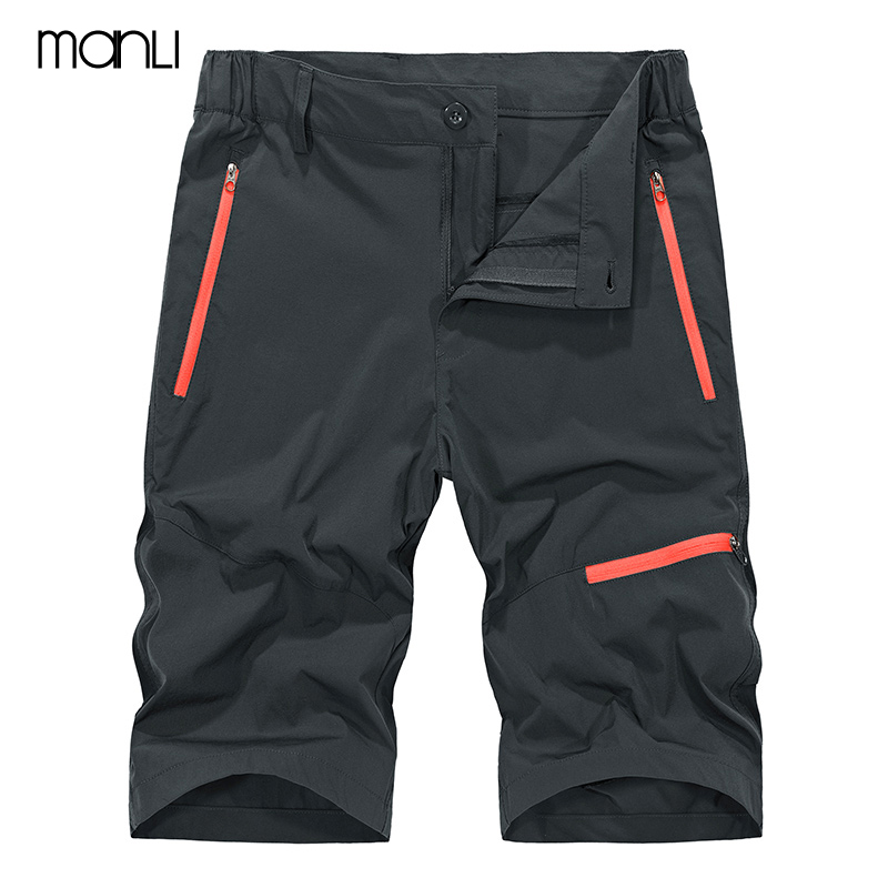 MANLI New Quick Dry Mens Summer Outdoor Jogging Elastic With Pocket Male Athletic Running Gym Short