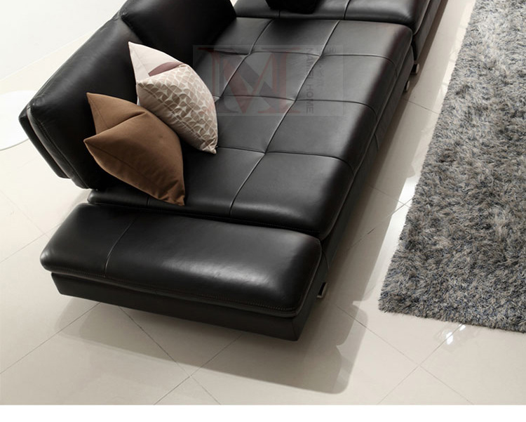real leather sofa sectional living room sofa corner home furniture - Furniture - Photo 6