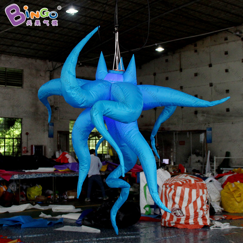 Free shipping 1.5 meters LED lighting inflatable octopus light star for wedding party decoration hanging type blow up light toysFree shipping 1.5 meters LED lighting inflatable octopus light star for wedding party decoration hanging type blow up light toys