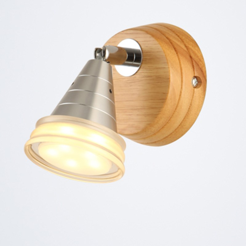 Led wall lamp modern minimalist creative bedside bedroom corridor balcony rotary wooden wall lamp small wall lamp YA7262 modern minimalist acrylic wall lamps smd led creative circle wall lights bedroom bedside lighting corridor balcony stairs lamp