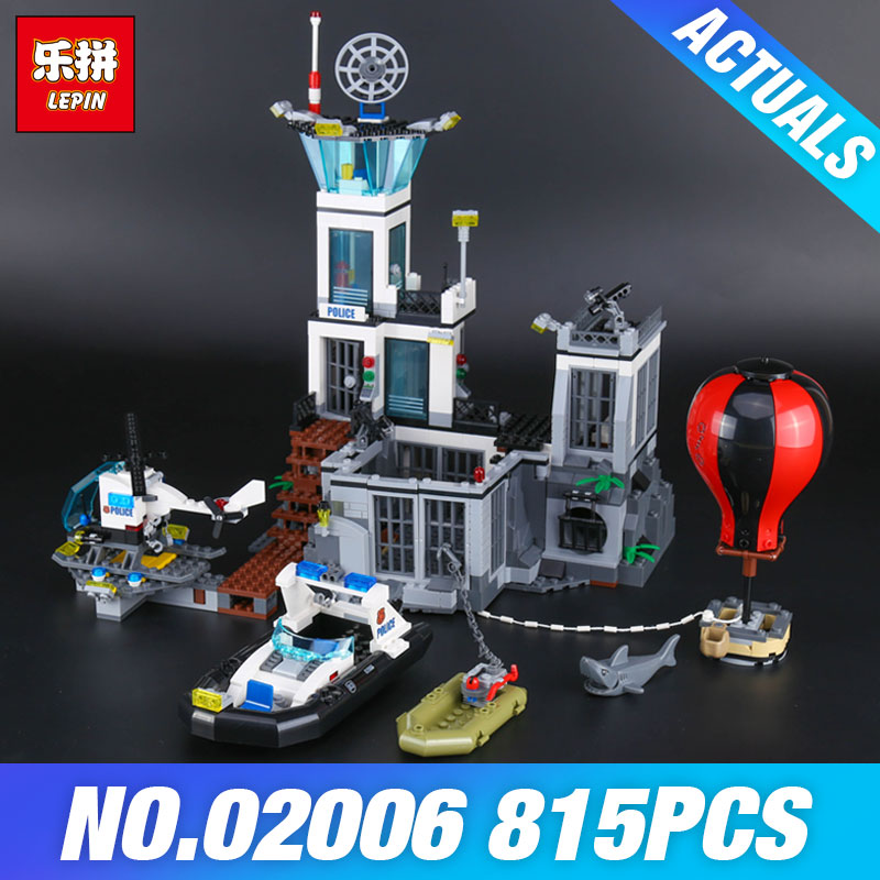 Lepin 02006 Genuine The Prison Island Set DIY City Series 60130 Building Blocks Self-Locking Bricks Educational Toys Kid's Gifts lepin 02006 815pcs city police series the prison island set building blocks bricks educational toys for children gift legoings