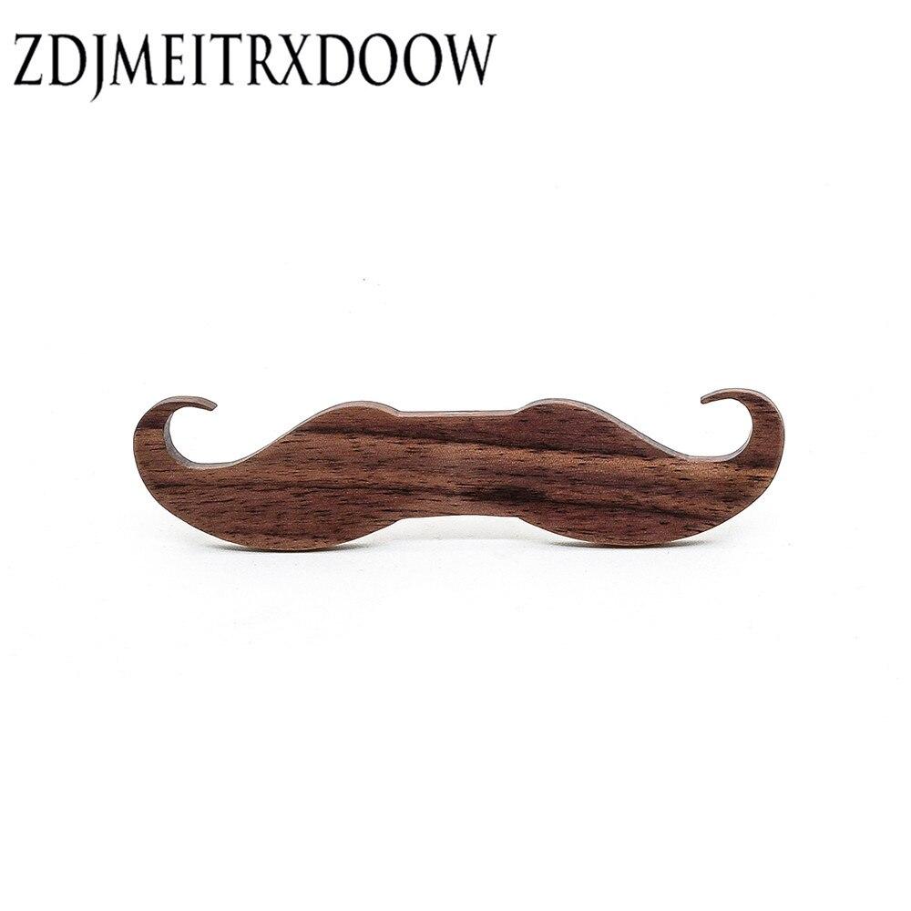 100 PCS Beard Semi-manufacture  Ties For Men Wooden Tie