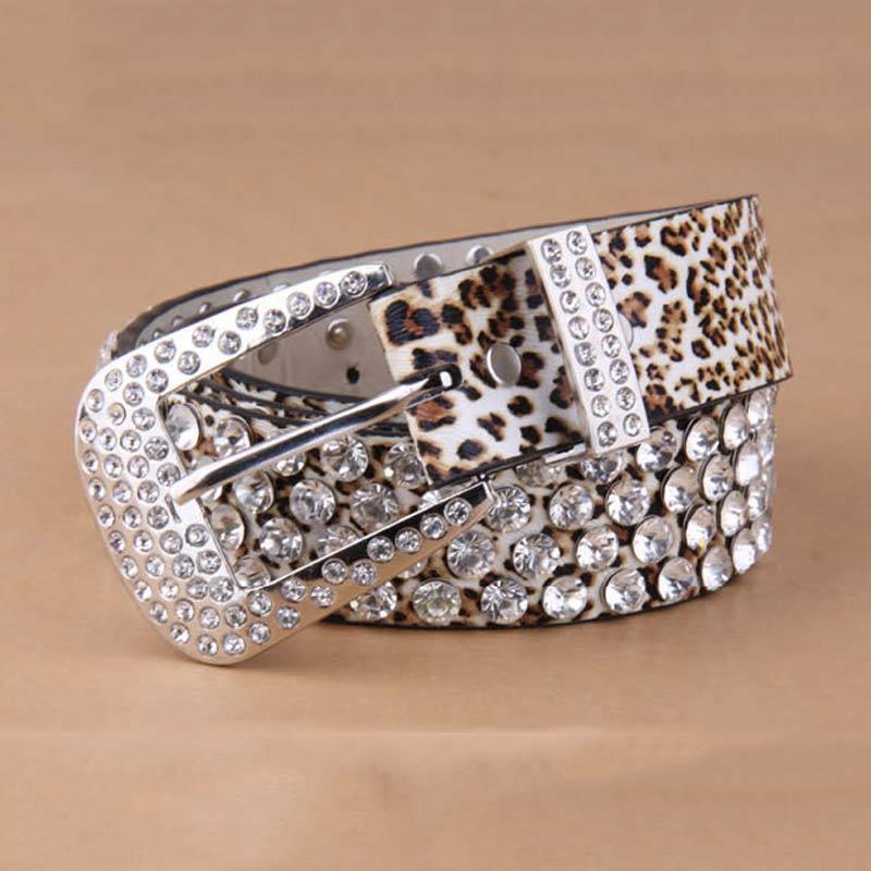 2016 new leather belt for wide leopard buckle belts