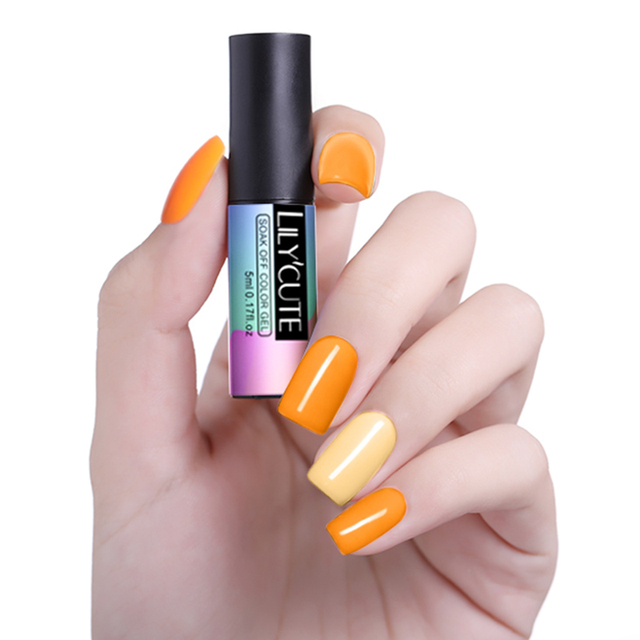 LILYCUTE Canary Yellow Orange UV Gel