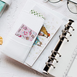 Image 5 - A6 Cute Spiral Notebook Notepad PU Leather Colored Flamingo Sakura Planner Kawaii Diary Book School Office Supply Papelari