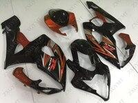 Набор для всего тела GSXR 1000 2005 2006 K5 Оранжевый Черный Abs обтекатель GSX R1000 2006 Abs обтекатель GSXR1000 2006