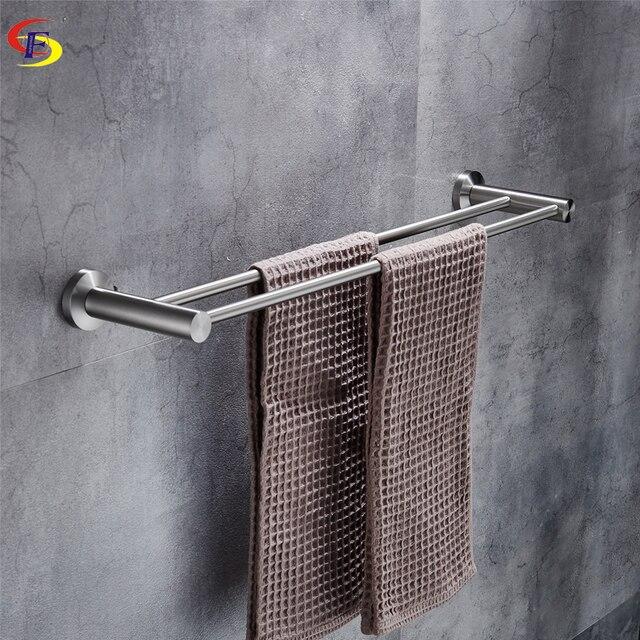 Ofyage Bathroom Solid 304 Stainless Steel Brushed Nickel Double