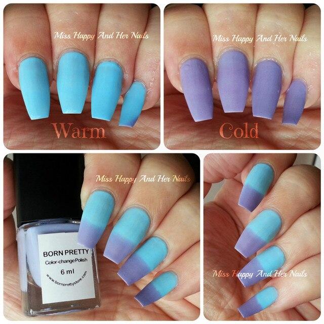 Aliexpress.com : Buy 1Pc Blue Purple Temperature Change Color Nail ...