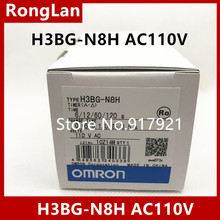 [ZOB] New original authentic OMRON Omron relay H3BG-N8H AC110V [zob] new original omron omron relay h3y 4 60s ac220v 5pcs lot