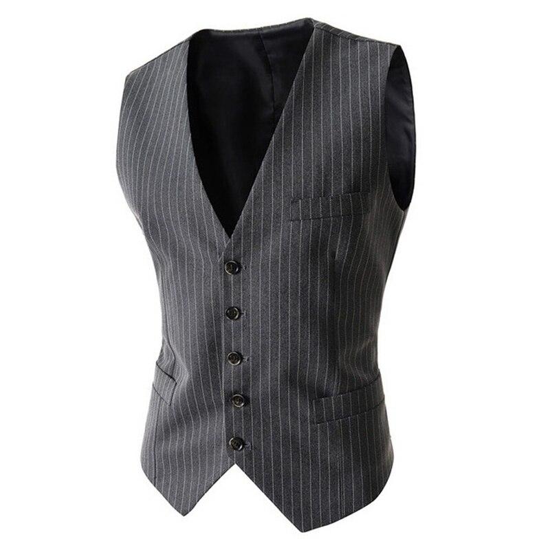 Zogaa hommes costume gilet quatre boutons gris hommes de mariage gilet simple boutonnage formel robe gilet vêtements Slim Fit sans manches