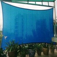 4 × 7 メートル/個長方形サン帆 95% シェーディング紫外線保護 HDPE ネット住宅中庭日よけ