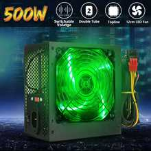 MAX 500W Power Supply 120 Mm LED Fan 24 Pin PCI SATA ATX 12V Komputer PC Power Supply untuk Desktop Game Komputer(China)
