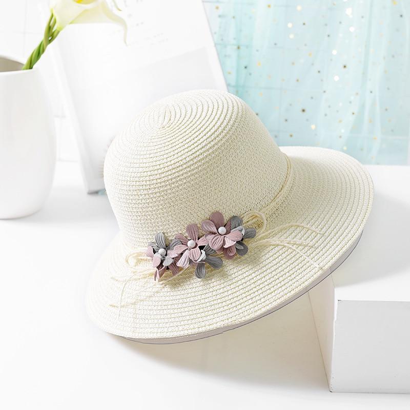 USPOP 2018 New Fashion wanita musim panas bunga topi matahari topi - Aksesori pakaian - Foto 3