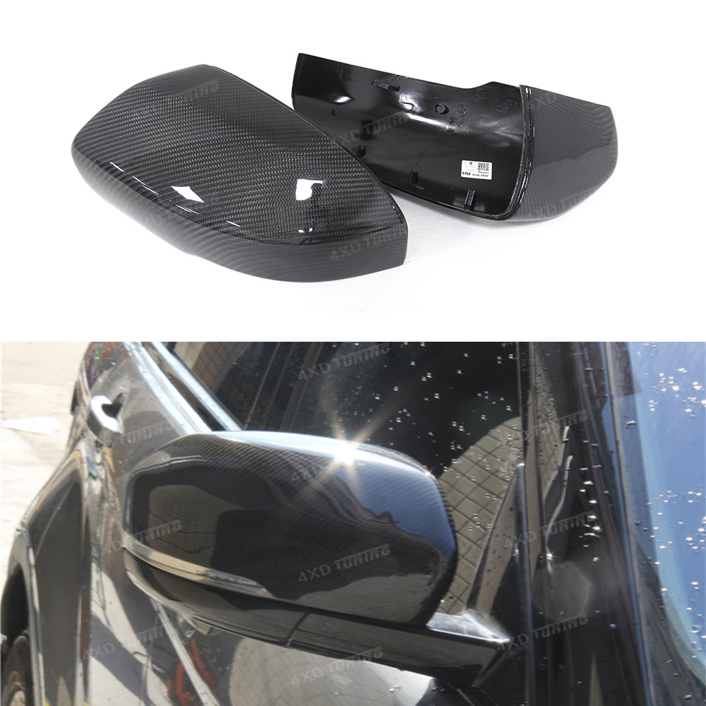 For Land Rover Range Rover Evoque Carbon Fiber Mirror Cover Rear View Side Mirror Replacement&Add On Style Gloss Black 2012 2013 for volvo xc60 2009 2010 2011 2012 2013 add on style carbon fiber rear view mirror cover