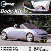 Bumper Lip Deflector Lips For Ford Ka / Sport Ka MK2 Front Spoiler Skirt For TopGear Fans Car View Tuning / Body Kit / Strip