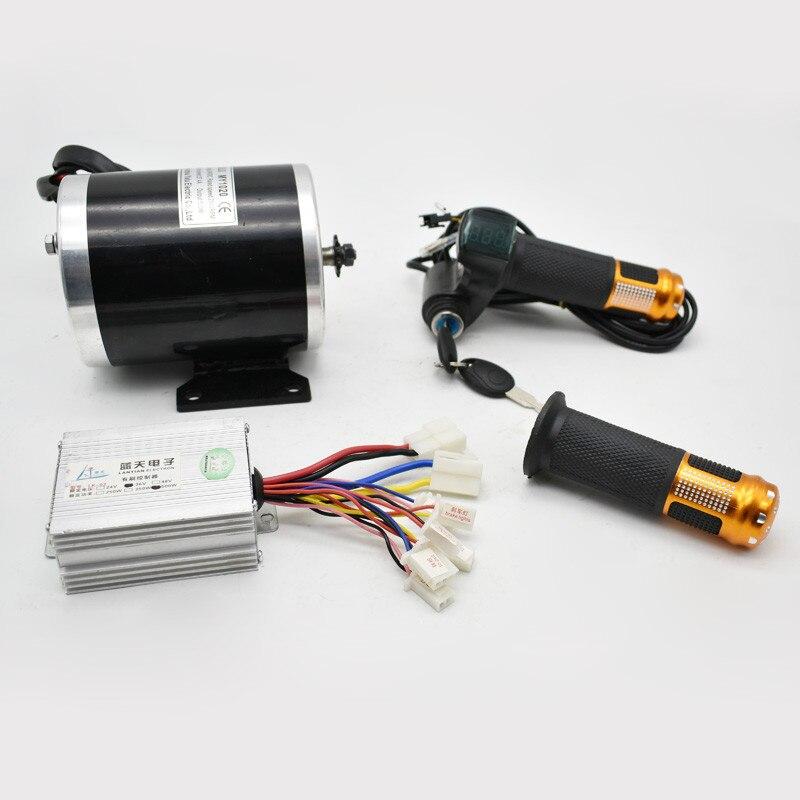Kit de moteur de moto électrique 750 W changement de gaz ATV à vtt électrique bricolage électrique 4 roues véhicule enfant Scooter électrique moteur