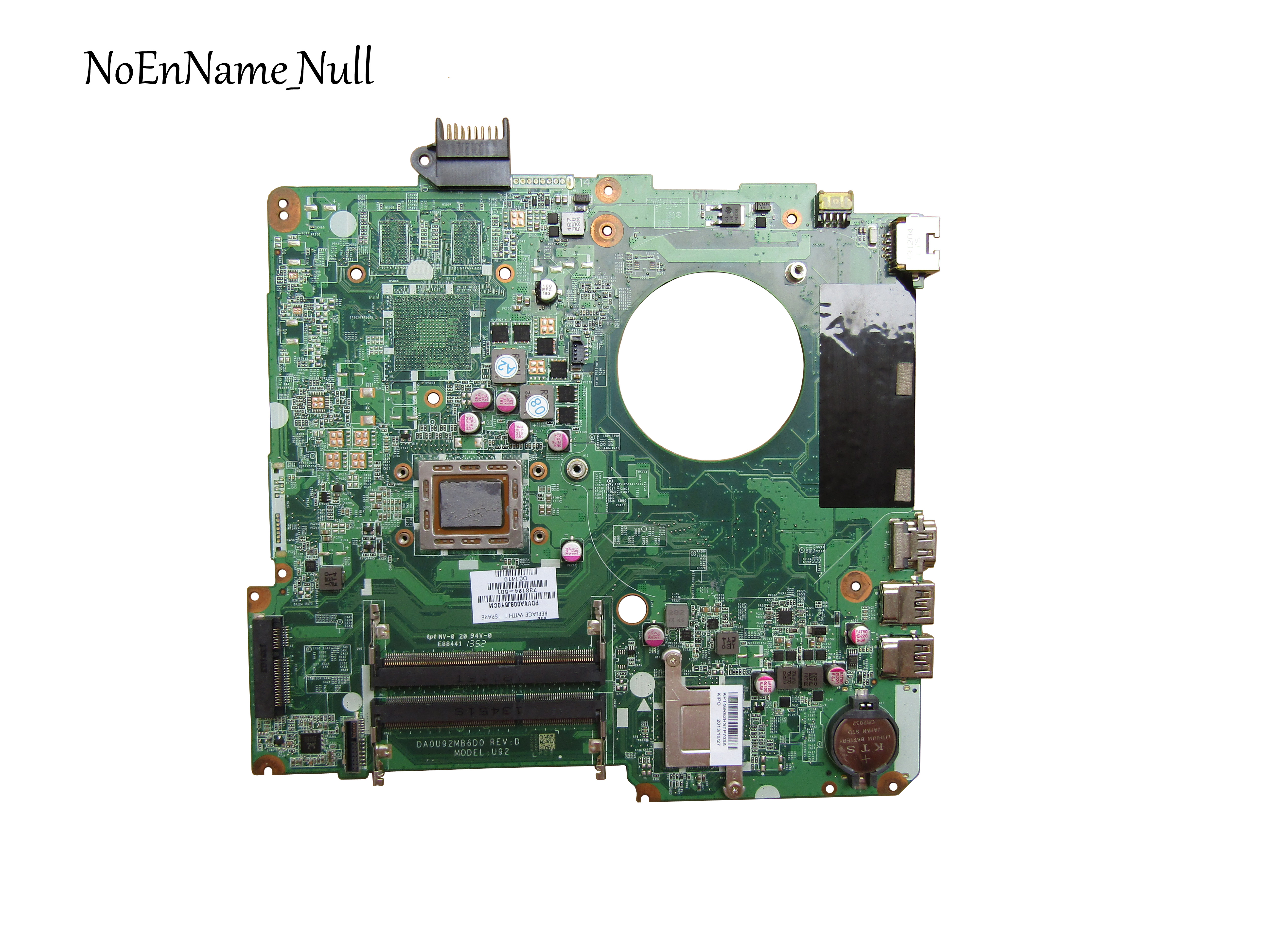 Free Shipping For HP 15-N Laptop Motherboard 738124-001 738124-501 Motherboard DA0U92MB6D0 A10-5745M 100% Tested