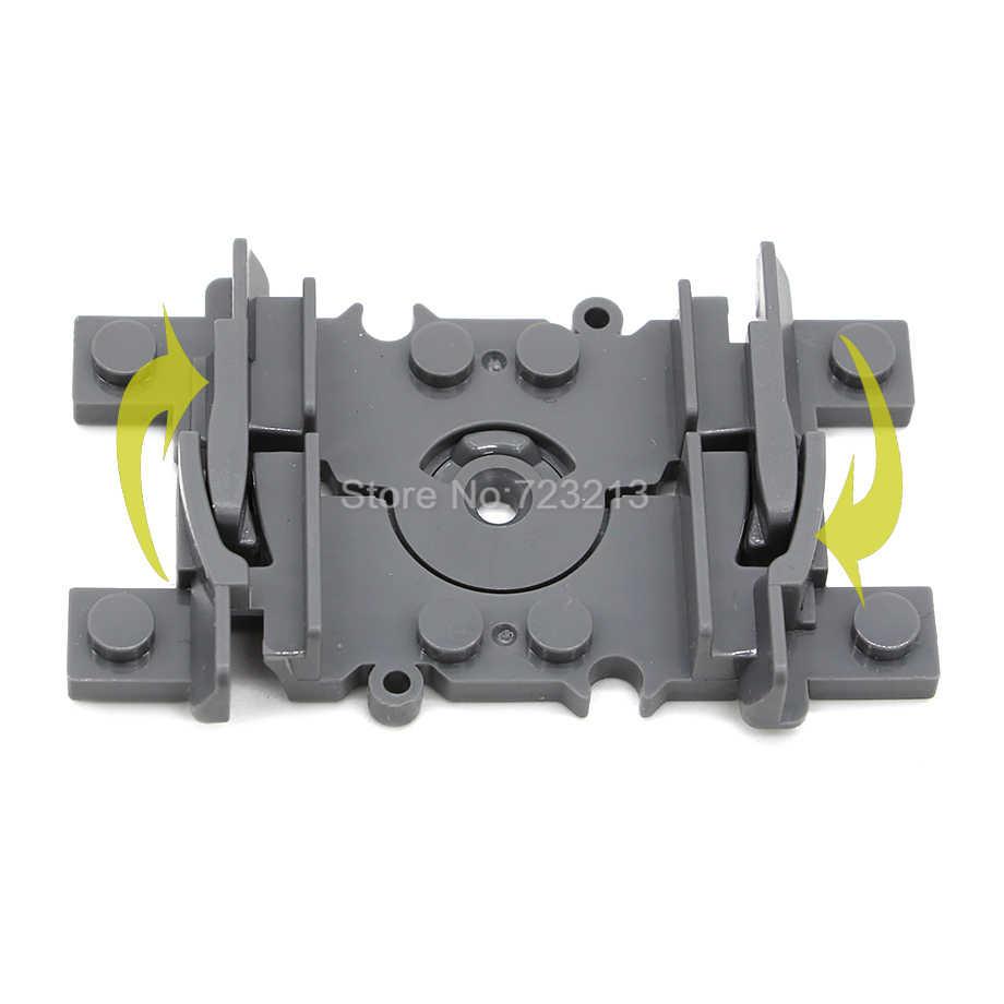 10 pièces Legoinglys Flexible fourchue Rails pour Train Doux Ferroviaire GPM Ensembles De Blocs De Construction Modèles Enfants Jouets pour Enfants