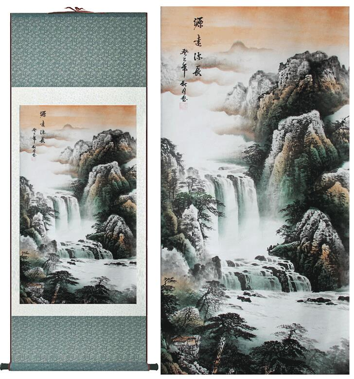 landscape painting Chinese art Painting Home Office Decoration Chinese painting mountain and rivers