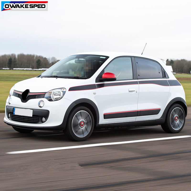 US $28 59 15% OFF|Sport Stripes Car Waist Lines Sticker For Renault Twingo  GT Color Run 2015 2017 Auto Body Door Decor Decal Exterior Accessories-in