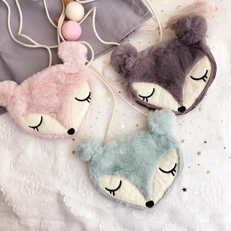 Korea Handmade Plush Fox Necklace Pendant Bag Baby Chain Fas