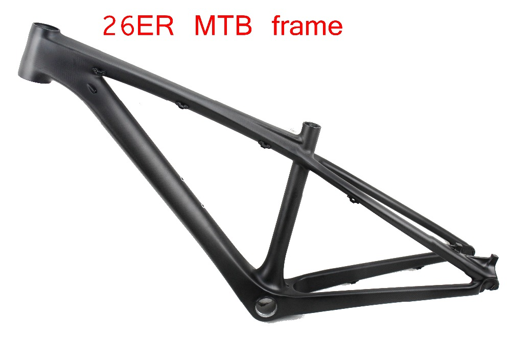 new Promotion Full carbon mtb bike frame 26er mountain bike carbon frame 26 MTB frame 1416''   in stock , 2 years warranty