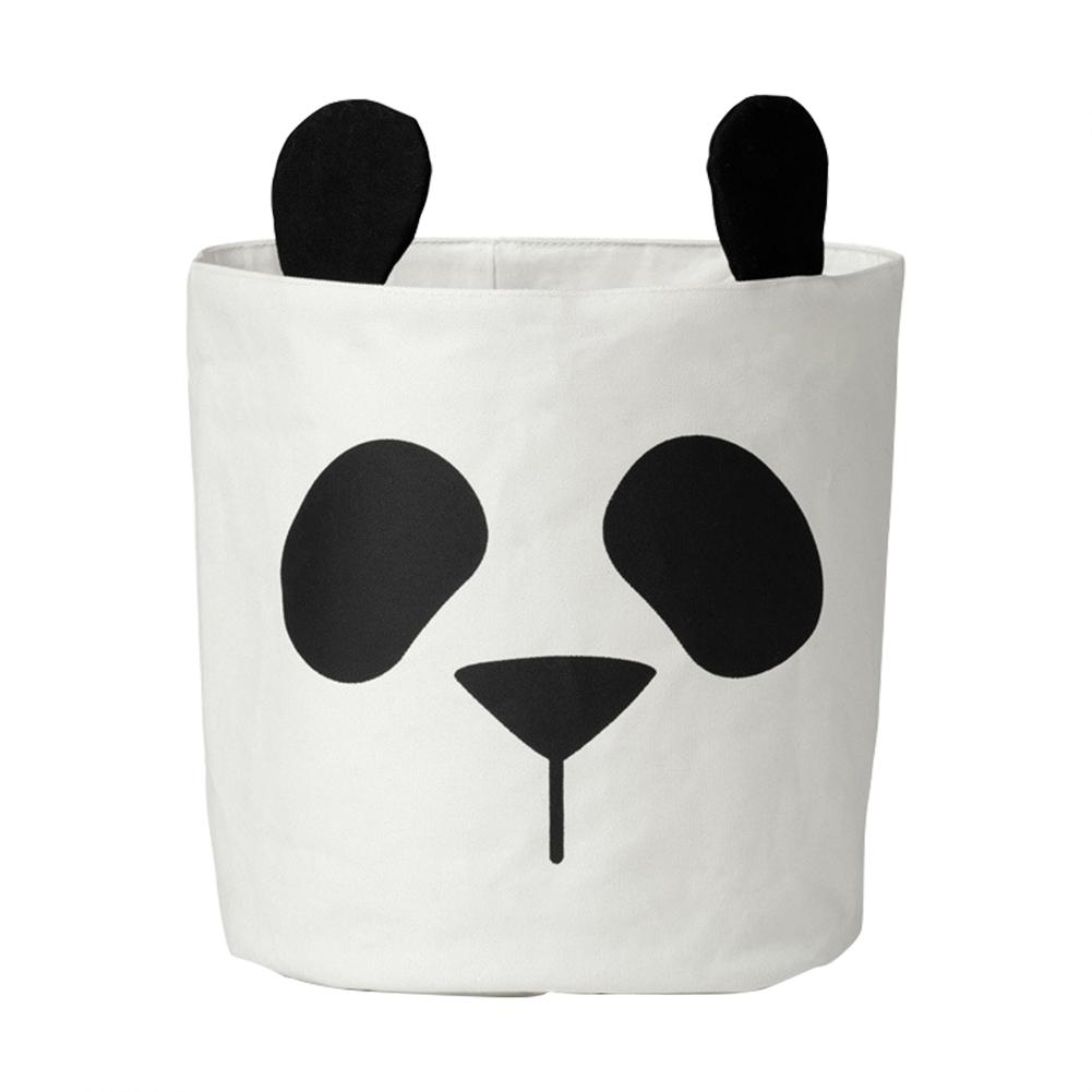 CHUWUJU Cute Panda Storage Bag Canvas Laundry Basket Storage Barrels Bag For Toys Clothes Can Stand Room Decor 30*40cm