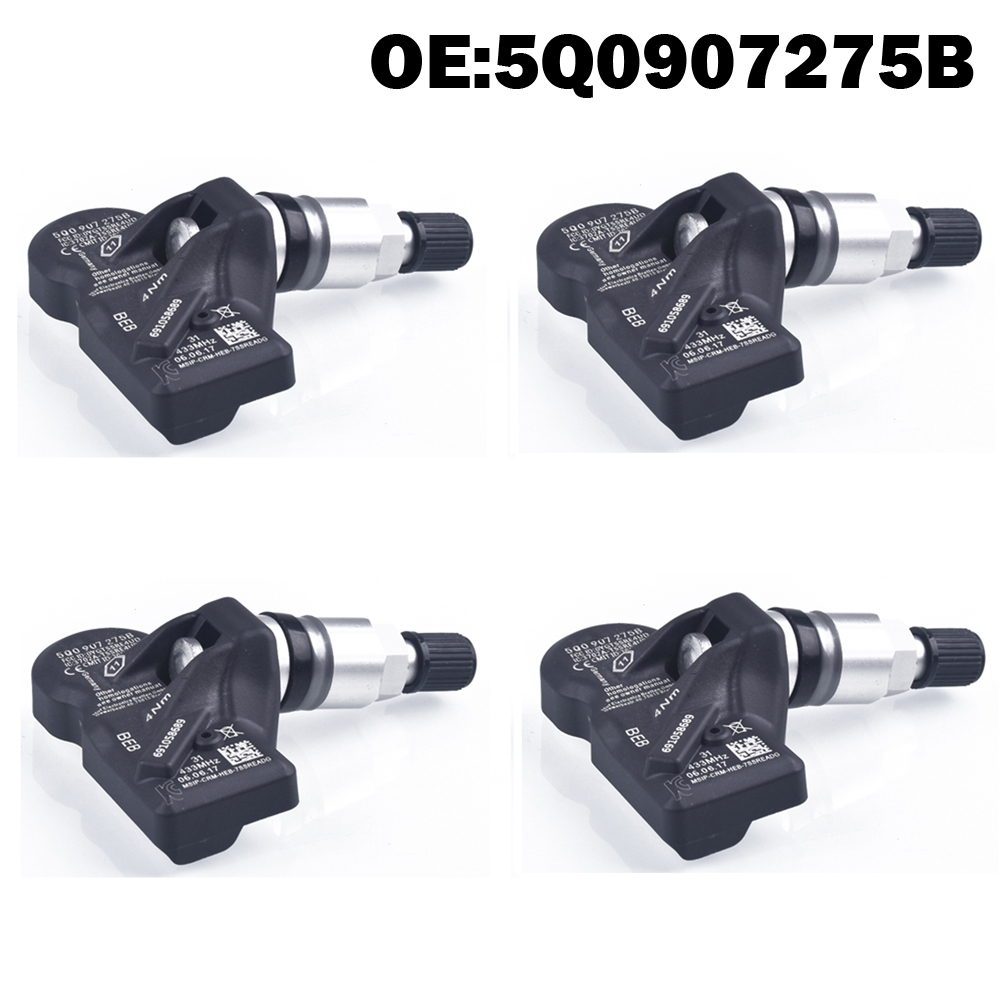 4 PCS Car Tire Pressure Monitor Sensor TPMS 5Q0907275B For Skoda For VW Golf 7 MK 7 For Audi SQ 5 SQ 7 2017 TT RS A8 A7