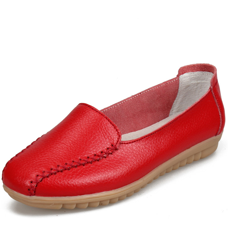 Woman Shoes PU Leather Flats Colors footwear Loafers Slip On Women Flat Moccasins Non-Slip Moccasins Mother Loafers Soft Leisure 2017 autumn fashion men pu shoes slip on black shoes casual loafers mens moccasins soft shoes male walking flats pu footwear