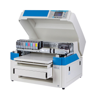 A2 size flatbed dtg t shirt printer with DX7 print head