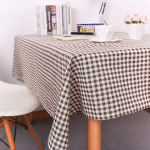 Modern minimalist black and white gray plaid tablecloth tablecloth, hotel coffee table cloth
