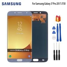 AMOLED For SAMSUNG Galaxy J7 Pro J730 SM-J730F Display LCD Screen For Samsung J7 2017 J730FM J730G J730GM Screen LCD Display чехол для samsung galaxy j7 2017 sm j730fm wallet cover золотистый