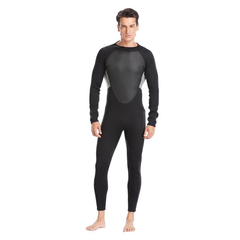 Homens mulheres One-piece Manga Longa Wetsuit 3mm Neoprene Mergulho Terno Swimwear