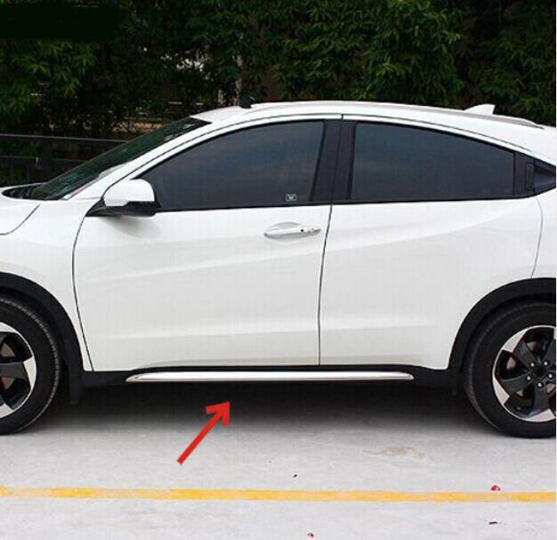 2017 аксессуары, пригодный для 2014 2015 2016 Хонда HR-V в модель vezel хром боковая дверь линия гарнир формования отделка чехол протектор ВСР