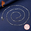 Women Charms New Fashion Simple 925 sterling Sliver Chain Necklace lariat Charm Bar Necklaces yx1350