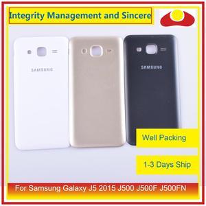 Image 3 - 50 pçs/lote Para Samsung Galaxy J5 2015 J500 J500F J500FN J500H Habitação Porta Da Bateria Voltar Tampa Traseira Caso Shell Chassis Substituição