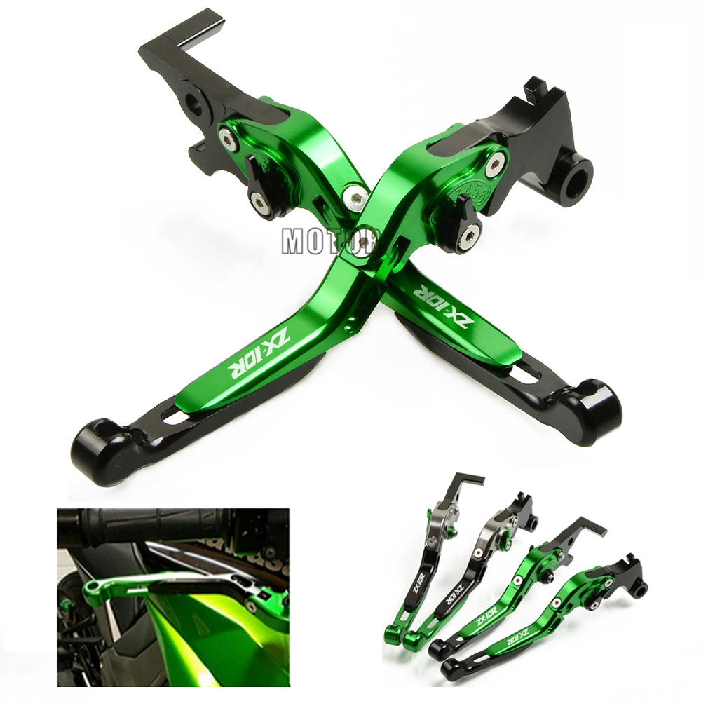Motorcycle Brake Clutch Levers For Kawasaki NINJA ZX10R ZX 10 R 10R ZX10 R 2016 2017 CNC Adjustable Folding Extendent Levers for kawasaki ninja 300r 300 r 2013 2017 ninja 250r 2008 2016 z250sl z300 motorcycle folding extendable brake clutch levers