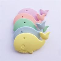 Chenkai 5PCS BPA Free Silicone Whale Pendant Teether Baby Shower Animal Pacifier Dummy Teething Nursing Jewelry Sensory Toy