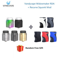 Original Vandy vape Widowmaker RDA Tank & Wotofo Recurve Squonk Mod Box Mod Vape Kit without 18650 Battery Electronic Cigarette