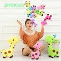 18 cm Bonito Girafa de Pelúcia Brinquedos Animal macio Querida Boneca Kawaii ponto Brinquedo para Presente das crianças Dos Miúdos das meninas dos meninos Do Bebê acessórios de carrinho