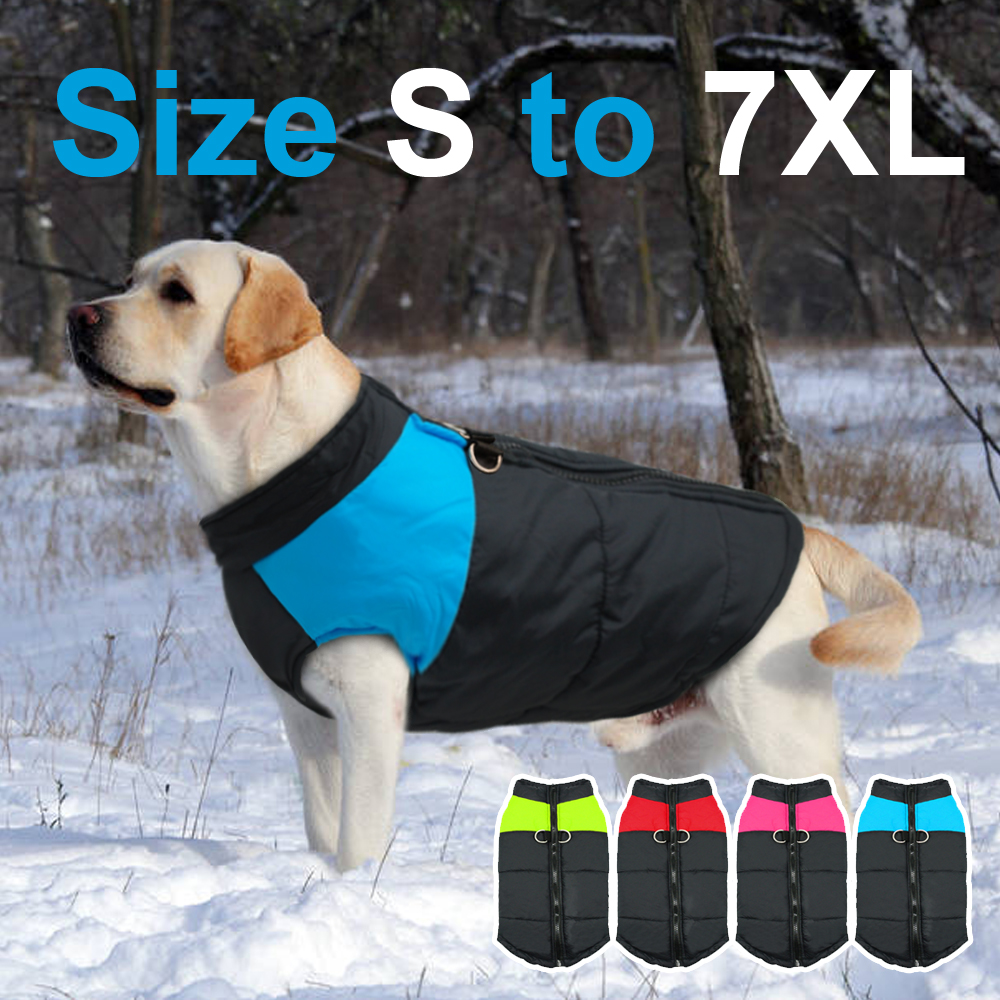 Waterproof Dog Jacket with Zipper for Large Dogs Made with Nylon Material 2