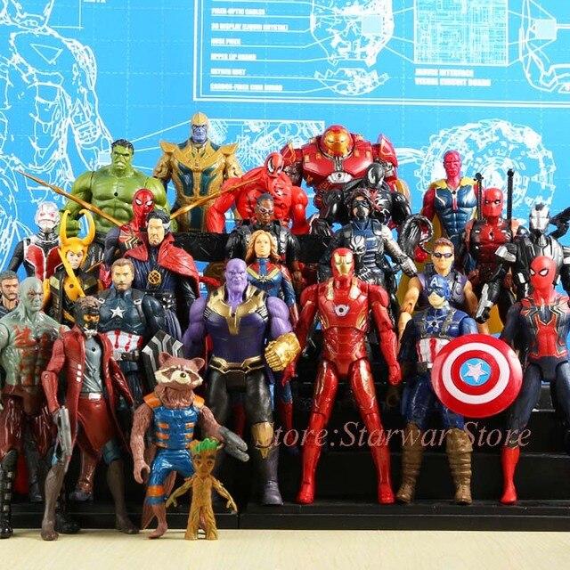 Endgame 4 vingadores Super Heroes Figuras Brinquedos ron Man Capitão América Thor Hulk Spiderman venom Thanos Visão Soldado Inverno