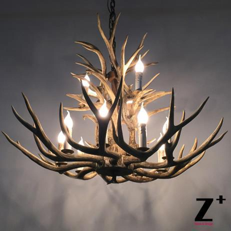 где купить High Quality American Country Style  Two-Tier resin Deer Horn Chandelier Brown Resin free shipping дешево