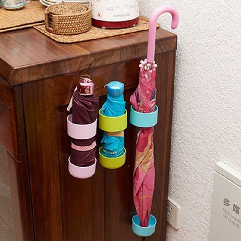 Household Umbrella Stick-length Short Handle Umbrella Storage Rack Shelving Finishing Drain Umbrella Hook