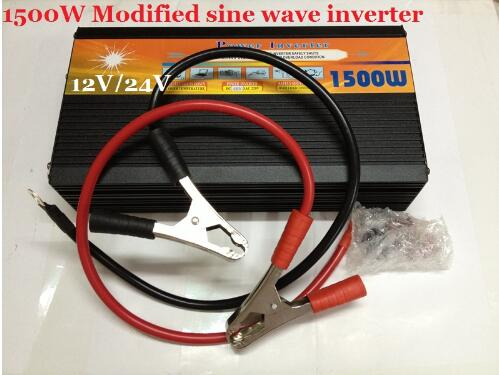 modified wave Power Inverter 1500W DC12V TO AC220V home solar inverter car inverter converter dc12v to ac220v inverter modified sine wave peak power 2000w sia1000w home solar power car inverter
